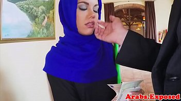 penis french hijab cock by small for ruined white muslima muslim Family sucking mother