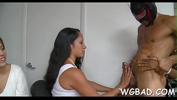 front me go mistresst of in Asian woman does a sloppy blowjob on two guys dtd