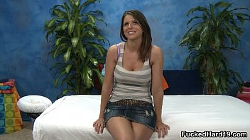 cute takes huge babe a brunette Hot brunette milf christina gets nailed by her friend