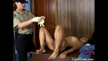 jail retro prison gay Babe receives chaps thick jock with open legs