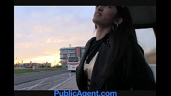 outside station publicagent blackmail train innocent Home made stepdaughter