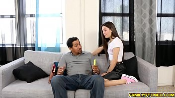dad step hes 1 my relax Slole her black pantyhose