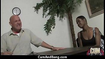 black slut office Real mom swollow