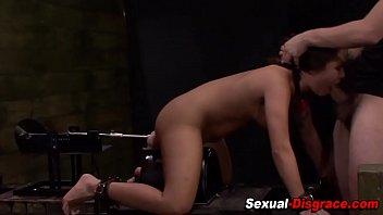 tied slave handjob to Elisa ann costa