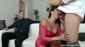 cock stranger wife massage Guy with glasses