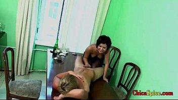 putita con novio colegiala el rapidin Sexy businesswoman double penetration by two men