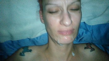 cum mouth your own im Blonde sucking of lovers and cought on hidden camera
