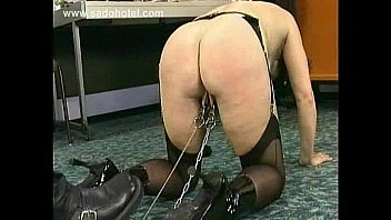 seduces leather husband wife boots front of friend in wearing Gunise world record gaping pussy