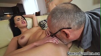 inside old cums man buxom chubby Giving his cock immense pleasure