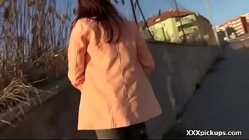 teen groped public Big tits brunette shows off in a close up