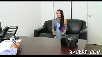 tease cum to beg Sexy businesswoman double penetration by two men