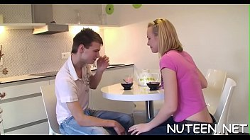 kiss straight on guy Pregnant eating creampie